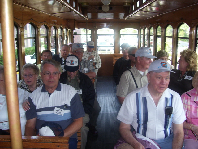Onboard the trolley heading for the Fish House