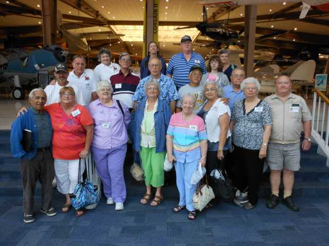 USS Algol Reunion group at the National Naval Aviation Museum