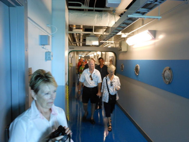 The hallways of the National Flight Academy remind one of being onboard ship