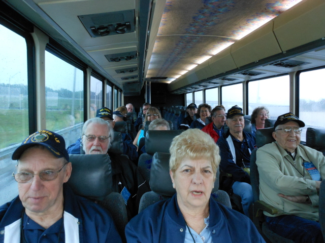 On the bus heading to the USS Alabama