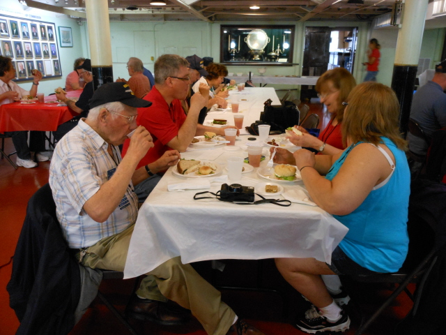 Lunch in the Wardroom of the USS Alabama