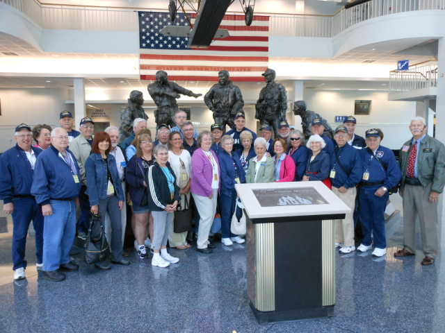 Group photo at the National Naval Aviation Museum
