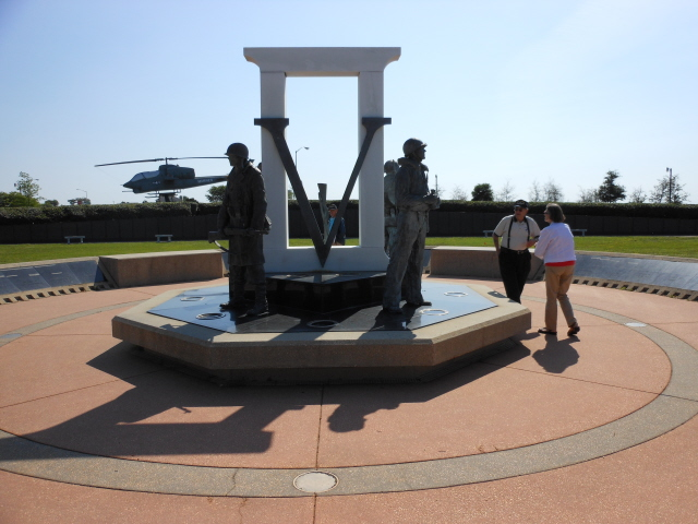 World War II Memorial at the Veteran's Memorial Park