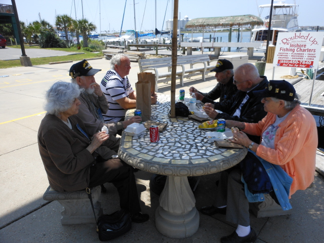 Picnic lunch at the Marina
