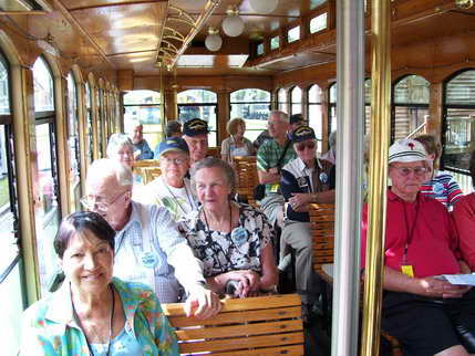 On trolley tour of Historic Downtown Pensacola