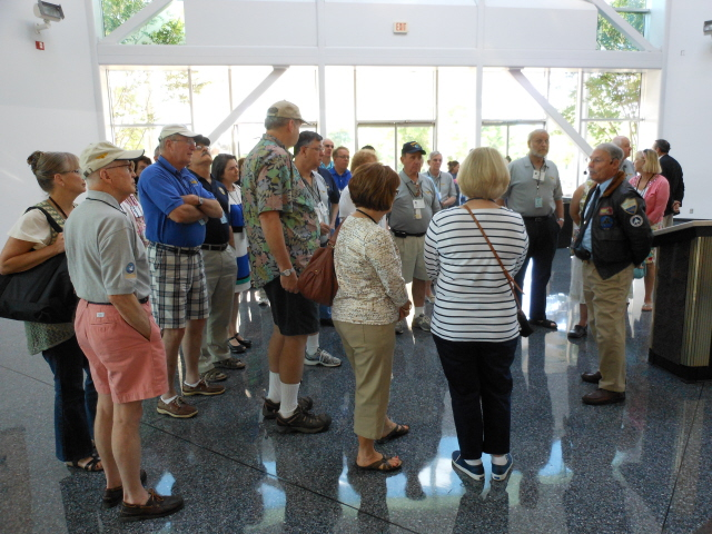 On the tour of the National Naval Aviation Museum with tour guide Ron